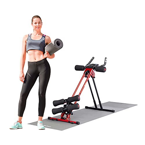 Side Shaper by 5 Mins Shaper Pro – Ab Carver Workout Equipment Portable Ab Machine Core Max Work Out Trainer Muscle Toning Device – Body Toner Exercise / Adjustable Workout Fitness Cruncher (Red)