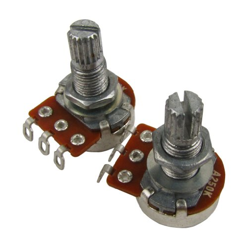 IKN Small Size Guitar Pots A250K Long Split Shaft Potentiometers Audio...