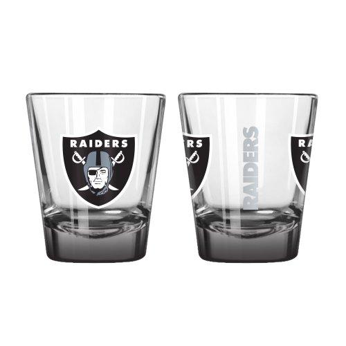 Boelter Brands NFL Oakland Raiders Elite Shot Glass, 2-Ounce, 2-Pack