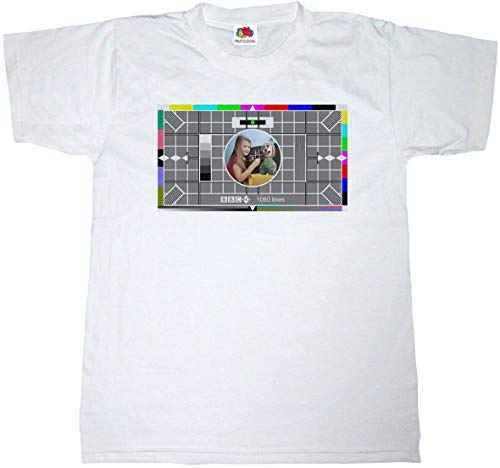 BBC Girl and Clown HD Test Card T-shirt for Adults, S to 5XL