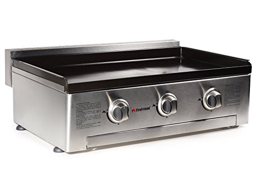 FireFriend BQ-6394 Gas Bakplaat Three Burners ZILVER