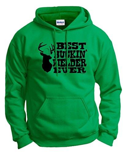 ThisWear Welding Helmet Best Buckin' Welder Ever Hoodie Sweatshirt 2XL Green