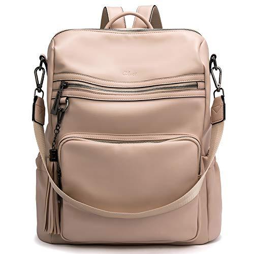 CLUCI Rucksack Geldbörse für Frauen Mode Leder Designer Travel Große Damen Umhängetaschen mit Quaste Pink
