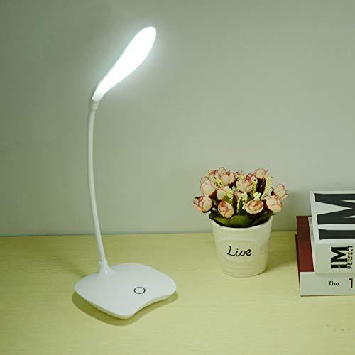 YCEOT flexibele 18-LED staande lamp Moderne touch-schakelaar 3 modi dimmer USB oplaadbare leeslamp lichttafellamp voor slaapkamer