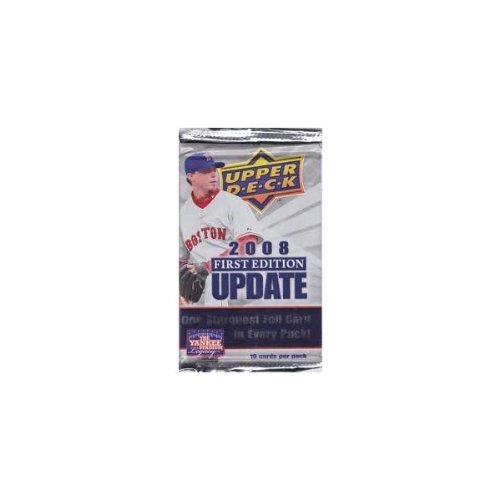 Upper Deck 1 (One) Pack - 2008 1st (First) Edition Update MLB Baseball Sports Trading Cards (10 Cards/Pack)