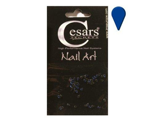 Cesars Nail Art Tear Drops bleu