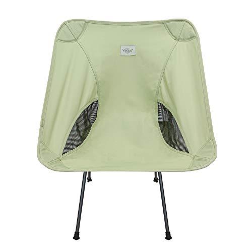 Viaggio+ アウトドア チェア イス 椅子 折りたたみ 背もたれ 軽量 コンパクト キャンプ グランピング (ピスタチオ)
