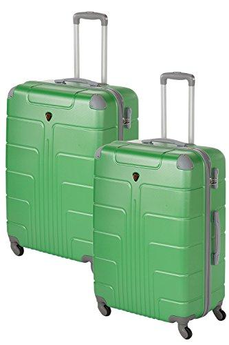 Kofferset met harde schaal, 2-delig, 2 x maat XL, elk 75 cm, elk 110 liter veel