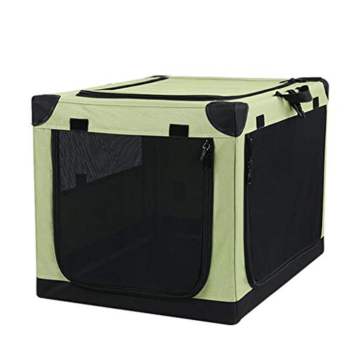 Hond Carrier Vouwstof Huisdier Carrier Lichtgewicht Huisdier Cage Bag Huisdier Auto Stoel Huisdier Booster Stoel Donkergroen (45 x 65 x 43 cm)