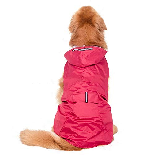 Elite fashion Nylon waterproof fabric hooded dog raincoat