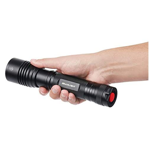 GearLight High-Powered LED Flashlight S2000 - Brightest High Lumen Light with 5 Modes, Zoomable, and Water Resistant I Powerful Camping and Emergency Flashlights 5