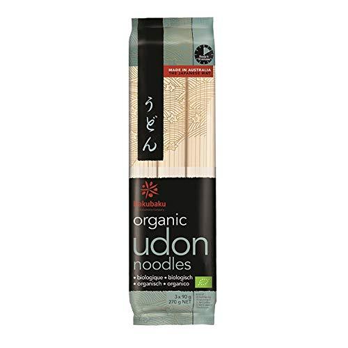 Hakubaku Organic Udon Noodles 8 x 270g (japanische BIO Nudeln)