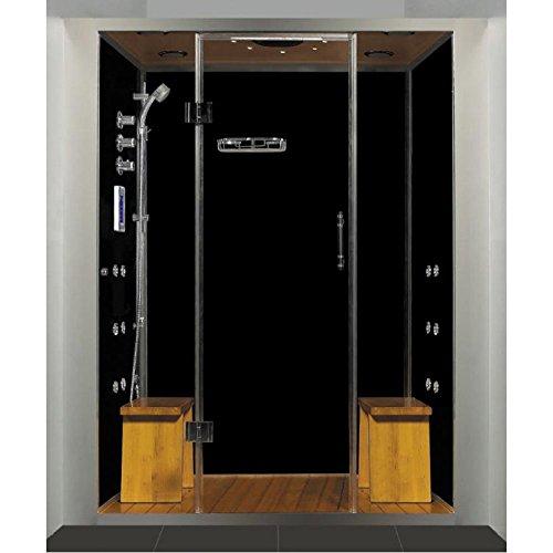Best Bargain Royal Care Pivot Door Steam Sauna Shower Base Finish: No Base, Size: 59 L x 40 W