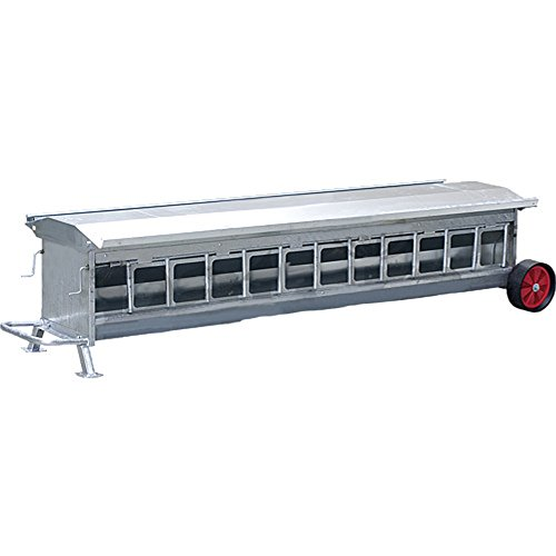 Nourriseur autom. pour agneaux, L=2,45mmobile, capacité : env. 300 l, galv. - 37250