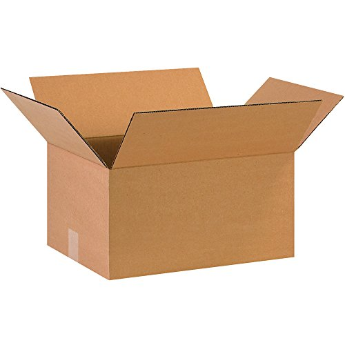 """Partners Brand P16128 Corrugated Boxes, 16""""L x 12""""W x 8""""H, Kraft (Pack of 25)"""