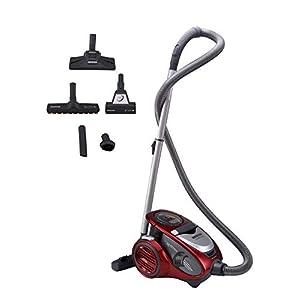 Hoover Xarion Pro XP25 Aspirador sin bolsa, Multiciclónico, Cepillo antialergias, alfombras, suelos duros, Filtros Hepa, 800 W, 1.5 litros, 75 Decibelios, Plástico, Rojo