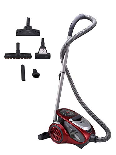 Hoover XP 25 XARION PRO XP81 XP25 ALLERGY CARE Bodenstaubsauger beutellos, Kunststoff, 1.5 liters, Rot/Grau