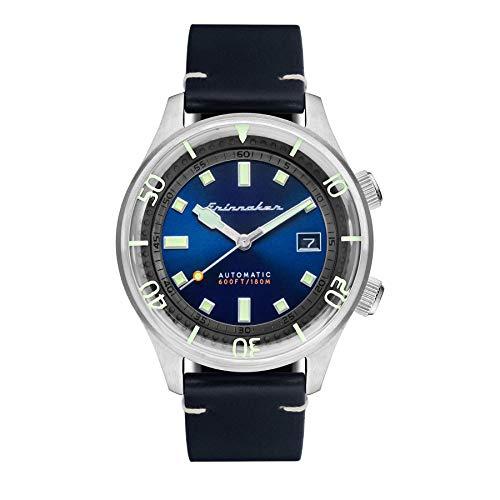 SPINNAKER Bradner Herren-Armbanduhr 42mm Armband Leder Automatik SP-5062-03