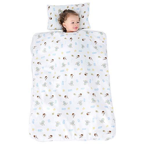 JYCRA Saco de dormir para bebé, diseño de dibujos animados para niños, manta unisex con almohada extraíble para guardería preescolar
