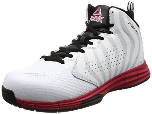 [ピーク] 安全靴 セーフティーシューズ メンズ ホワイト×レッド 27.0 cm 3E