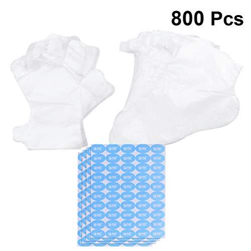 Artibetter Wegwerp Paraffine Bad Liners 100 Stuks Plastic Handschoenen 300 Stuks Voet Covers Booties en 400 Stuks Stickers Voetverzorging Tool Pedicure Accessoires