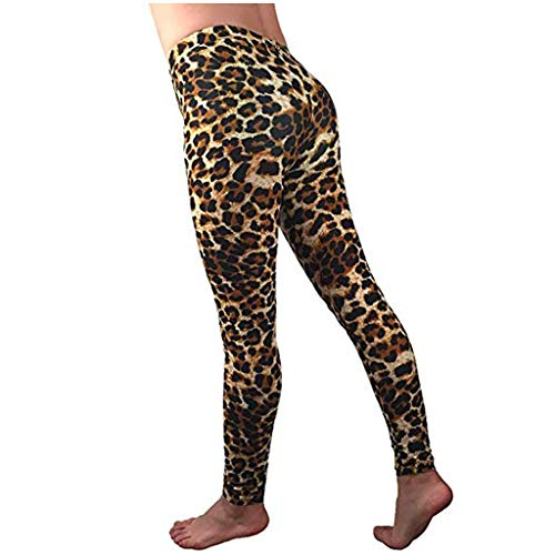 Lowest Prices! Leopar Print Yoga Pants, Women's High Waisted Pattern Leggings Full-Length Yoga Pants...