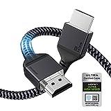 Cable HDMI 2.1 8K, Maxonar (certificado) Ultra HD 48Gbit/s de alta velocidad 8K60 4K120 eARC HDR10 4: 4: 4 HDCP 2.2 y 2.3 Dolby Compatible con PS5,Xbox Series X/Ro ku/F ire/Sony/LG TV