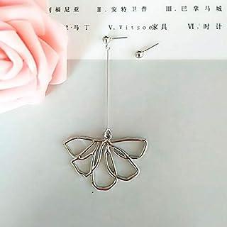 Kristall knoppörhängen knoppörhängen blomblad örhängen kvinnligt mode enkel personlighet lång ins vind blomma örhängen guld