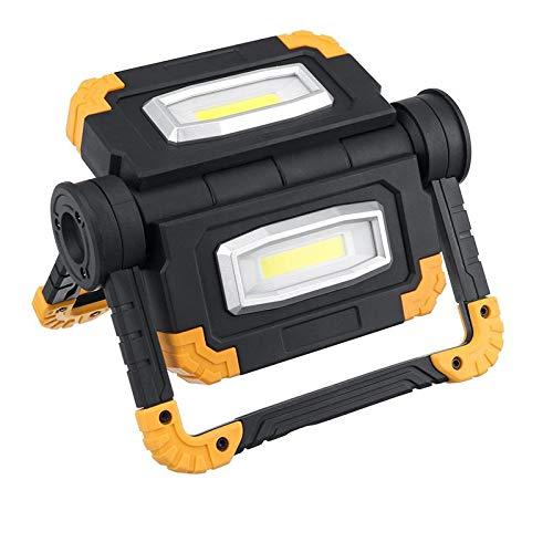 MIOANFG Proyector LED de carga USB de luz de trabajo COB recargable foco exterior reflector para camping emergencia