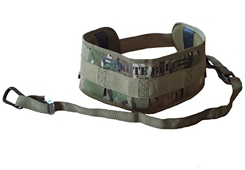 Brute Belt - Nylon Dip Pullup Squat Belt (Camo, Medium)