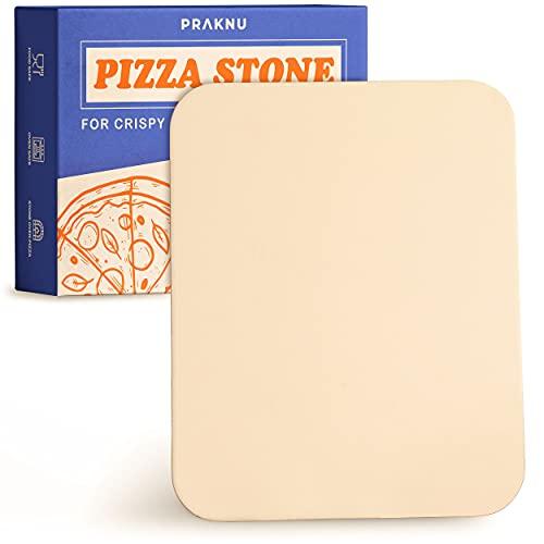 Piedra para Pizza Rectangular - 30x38 cm - para Masa de Pizza Crujiente - Piedra Refractaria para Horno, Barbacoa, Grill