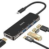 【幅広い機能】1つのtype c ポートを4K 30Hz HDMIポート*1、USB-C充電ポート*1、USB3.0ポート*3に拡張が可能です。ノートパソコンに必要なすべてのポートを、コンパクトなハブにまとめました。 【最大100Wの電力を供給】タイプC充電ポートは、USB Power Deliveryラップトップに最大100W(デバイスにより)の電力も供給し、ハードディスクに追加の電力も供給できます。提供電力は充電器とデバイスに依存されています。 【高速データ転送】USB-CポートまたはUSB...