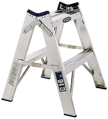 Werner Type1A 300-Pound Duty Rating Aluminum Twin Stepladder from Werner Ladder