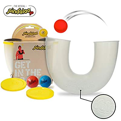 pindaloo Skill Toy + 2 Upgraded Balls. The Latest Craze to Hit The U.S.A. for Kids, Teens and Adults. Lots of Fun, Develops Motor Skills. for Indoor and Outdoor Play from Pindaloo