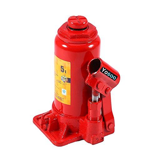 Hydraulischer Wagenheber, Flasche, Öl, für Auto, Motorrad 2T/3T/5T/6T/8T, 5T, 50