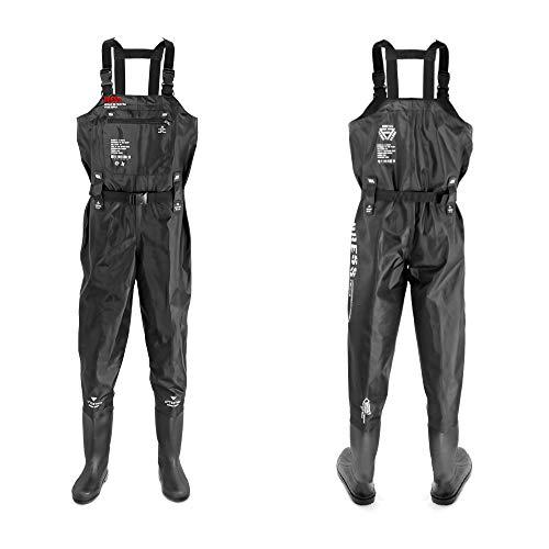[DRESS] ウェーダー チェストハイウェーダー ラジアルソールAIRBORNE L【身長】170~175【ブーツ】26~26.5ブラック