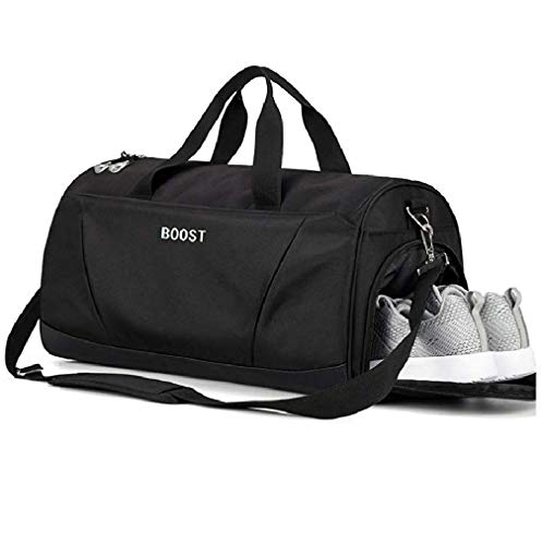 Sports Gym Bag with Wet Pocket & Shoes Compartment for Women & Men