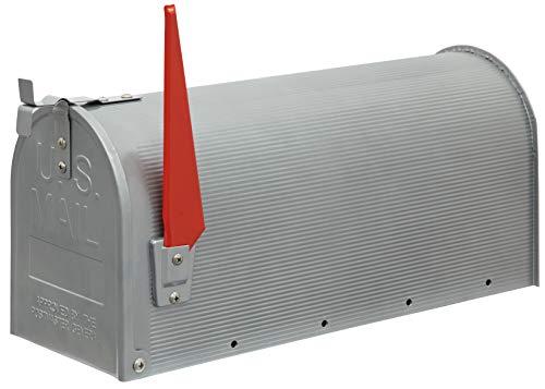 Arregui Mail D-USA/S Buzón Individual de Acero de estilo americano, Gris, Tamaño L (revistas y sobres C4) -22 x 48 x 17 cm
