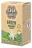 CASA JARDÍN GREEN  Recambio Eléctrico   A Base de Aceites Esenciales  Con Citronella  Hasta 45 Noches de Duración   Contenido: recambio 33 ml