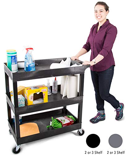 Stand Steady Original Tubster 3-Shelf Service Cart
