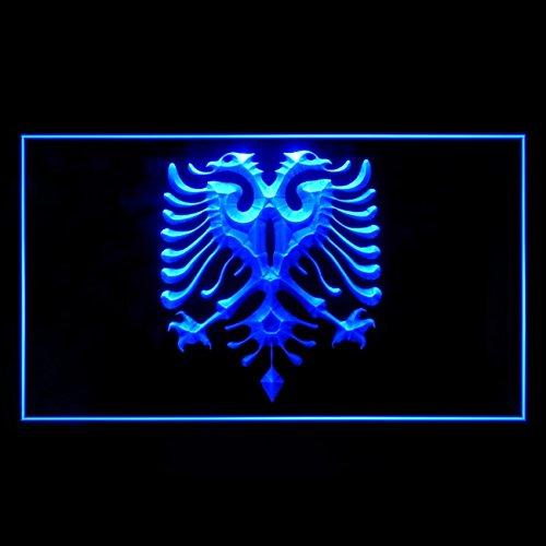230107 Albanian Eagle Flag Modern Tattoos Design Display LED Light Neon Sign