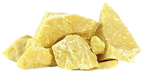 Edelmond Roh Bio Kakaobutter nicht desodoriert, hochwertige Cacao-Butter mit Duft: Lebensmittel, nicht raffiniert auch für Haut-Creme. 200 g