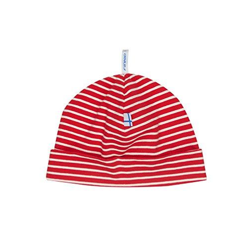 Finkid Hittili Gestreift-Rot, Kopfbedeckung, Größe 52 - Farbe Red - Offwhite