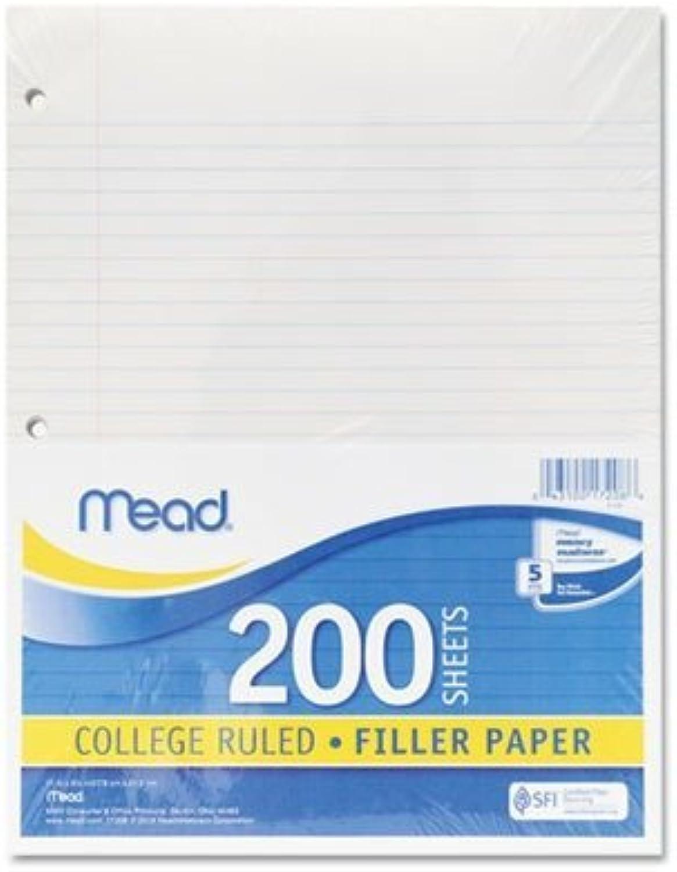 Mead 15326 Filler Paper, College Ruled, 3 Packs Of 200 Sheets  600 Sheets by Mead B0141MXAVI    Günstigen Preis