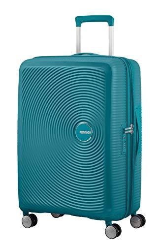 AMERICAN TOURISTER Soundbox - Spinner M Espandibile Bagaglio a Mano, Spinner M (67 cm - 81 L), Verde (Jade Green)