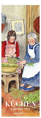 Küchenkalender 2021 - Streifen-Kalender 15x42 cm - Wandplaner - Küchenkalender - Alpha Edition