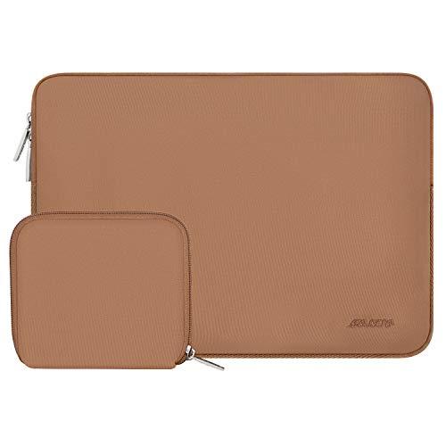 MOSISO Laptop Sleeve Kompatibel mit 13-13,3 Zoll MacBook Pro, MacBook Air, Notebook Computer, Wasserabweisend Neopren Tasche mit Klein Fall, Braun