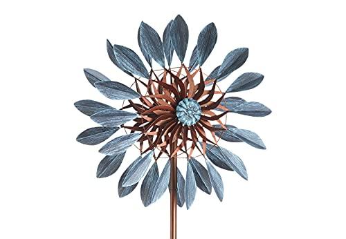 Kobolo Windrad Gartenstecker Dekostecker Windspiel XXL - Blossom - Metall - groß