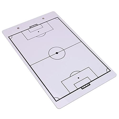 QiHaoHeji Junta de Entrenador Tablero de Entrenamiento de fútbol Tablero de fútbol de PVC de Doble Cara Borre de fútbol seco...
