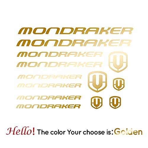 BYTT Benutzerdefinierte Vinyl-Schnitt-Aufkleber-Aufkleber für Fahrrad-Mondraker-Kunst-Dekor, Vinilo - Lamina Bicicleta-Bike- Bici □ Mondraker (Color Name : Gold, Size : L 33cm X 47cm)